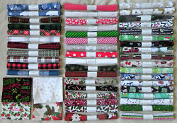 50 Fat Quarters Assorted Christmas Holiday Patterns 18quot;x21quot; Cotton Fabric #3 $55.00
