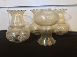 5 Mid Century Lightly Smoked Glass Chandelier Shades $74.99