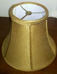 Gold Table Lamp Shade Bell Lampshade Textured Fabric $35.60