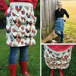 Farmhouse Kitchen Home Egg Collecting Apron Antifouling Cotton Re $13.48