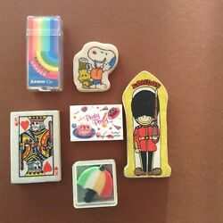 6 Vintage collectibles erasers rubbers $16.00