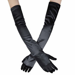 US 20.47#x27;#x27; Satin Evening Gloves Long Party Dance Elbow Arm Length Opera Cosplay $7.04