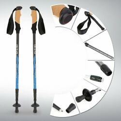 OUTAD Telescopic Walking Trekking Poles Collapsible Hiking Poles Twist Locks $8.96