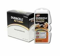 Duracell Hearing Aid Batteries Size 312 Fast shipping Fresh Expires July 2024 $20.99