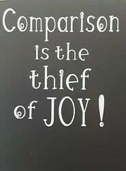 Inspirational Decals Stickers quot;Comparison Is The Thief Of Joy quot; $8.00