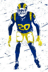 Football Jalen Ramsey #20 Los Angeles Rams Wall Room Poster POSTER 24x36 $18.99