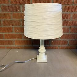Target Lamp Rustic Style Light Grey Lamp With Lampshade $20.00
