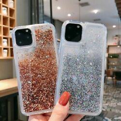 Bling Dynamic Liquid Glitter Quicksand Gold Sand Soft Shockproof Case For Phone $4.99