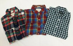 Abercrombie amp; Fitch Mens Lot 3 Long Sleeve Shirts 2 M 1 XS $29.99