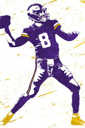 Kirk Cousins Minnesota Vikings Football Art Wall Room Poster POSTER 24x36 $18.99