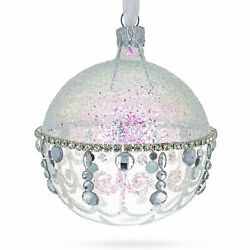 Diamond Chandelier on Clear Glass Ball Christmas Ornament $11.50