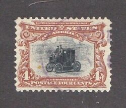 United States stamp #296 used light cancel clean SCV $17.00