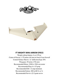 Mini Arrow Flite Test RC Plane Electric Airplane Kit New $19.99