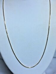 ITALIAN 18K YELLOW GOLD BOX CHAIN NECKLACE $200.00