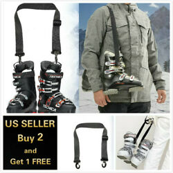 Adjustable Ski Carrier Convenience Portable Ski Strap Ski Carrier for Ski Boots $7.59