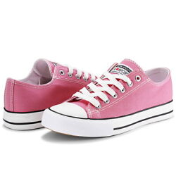 JENN ARDOR Women#x27;s Classic Lace Up Shoes Low Top Slip On Casual Canvas Sneakers $15.00