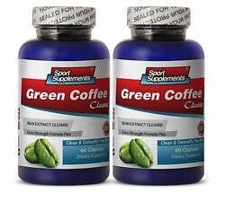 Green Coffee Bean Extract Cleanse 400mg Lean Body Mass Capsules 2 Bottles $29.94