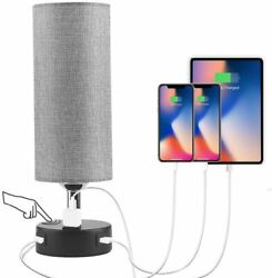 3 Way Dimmable Touch Table Lamp Modern Bedside Desk Lamps with 2 USB Charging $24.99