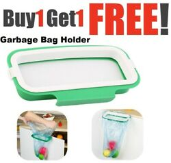 2X Cupboard Door Back Trash Rack Storage Garbage Bag Holder Hanging Kitchen Bin $11.99