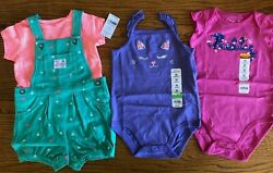 New 24 m Summer Girl#x27;s Clothes LOT Jumper Bodysuit Pink Purple $52 rv NWT $26.00