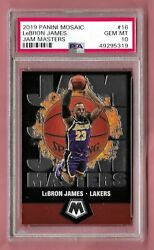 2019 Panini Mosaic Jam Masters #16 LeBron James PSA 10 Gem Mint Lakers $65.00