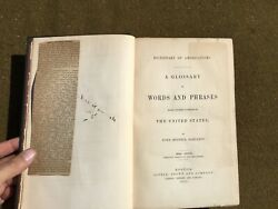 1860 Dictionary of Americanisms SLANG Words amp; Phrases of the US James R Bartlett $39.99