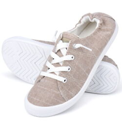 JENN ARDOR Womens Low Top Classic Slip On Lace Up Shoes Comfort Fashion Sneakers $15.00