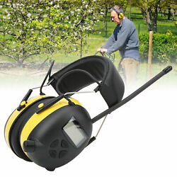 Safety Earmuff Sports Headset Noise Reduction NVR 30dB FM AM Radio Ear Muffs $47.85