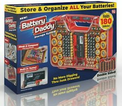 Battery Daddy 180 Battery Organizer and Storage Case with Tester as seen on TV $26.90