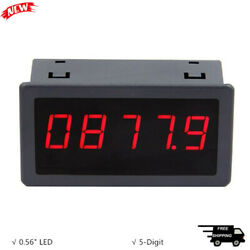 5166FR Frequency Meter 0.56quot; 5 Digit Hall Switch Speed Counter 5V 12V 24V Power $14.60