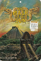 The Mask of the Sun for Apple II Ultrasoft vintage computer game 1982 Broderbund $174.99