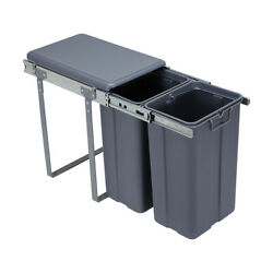 Pull Out Kitchen Bin Under Sink Dual Bins Cupboard Rubbish Waste Recycling FF AU $89.10