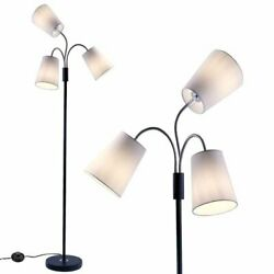 3 Light Adjustable Floor Lamp with Fabric Lamp Shade $64.95