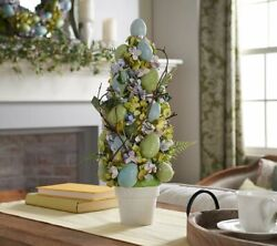 Sugared Egg and Floral Topiary w Potted Base by Valerie $22.99