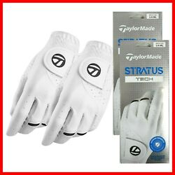 2021 Taylormade Men#x27;s Stratus Tech Golf Gloves Pack of 2 2 3 DAY SHIPPING $24.95