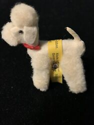 Vintage Steiff White Poodle for Barbie and other 60s Fashion Dolls $55.00