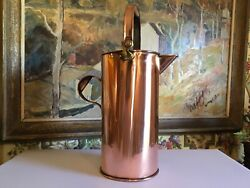 Large English Copper Bucket Circa 1900 Tall 19 inches $298.00