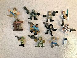 Lot Of 12 Star Wars Galactic Heroes: Tarfull Luke Obin Wan R2 Lando Leia amp; more $12.95