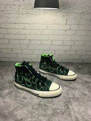 Converse All star Boys Junior Green Black White Sneakers Size 12 $15.00