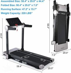 Upgraded 3.0 HP Gym Commercial Indoor Treadmill Folding Electric Running Machine