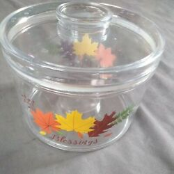 Plastic Kitchen Container With Lid Blessings Autumn Fall Leaves $3.00