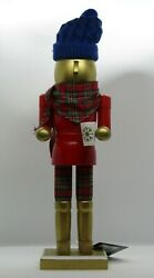 NWT Nutcracker Wooden Modern Southern Homes 14.5quot; Golden with Coffee $34.99