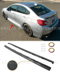 CARBON FIBER Side Skirt For 15 Up Subaru WRX STi CS Style Rocker Panels Pair New $299.99
