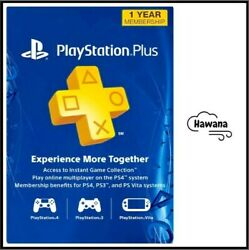 Sony PlayStation PS Plus PSN 12 Month 1 Year Membership Subscription $33.99