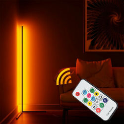 Modern Colour RGB Minimalist LED Corner Floor Lamp White Mood Lighting $69.99