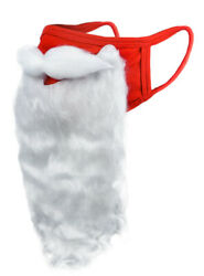 Holiday Santa Beard Face Mask Costume for Adults for Christmas 2020 One Size $13.99