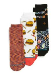 Stance Kids 248368 Multi Zoe 3 Pack Socks Size M $24.00