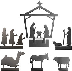 Nativity Set for Christmas Indoor Scene for Rustic Modern Decorations Meta $57.99