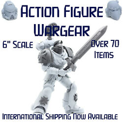 Custom Action Figure Weapons Helmet Warhammer 40K McFarlane New Space Marine Lot $12.00