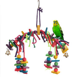 Bird Toy for Parrot Parakeets Conures Cockatiels Cage Chew Wooden Fun Play Toy $9.99